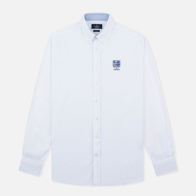 Мужская рубашка Hackett White Chest Embroidered White
