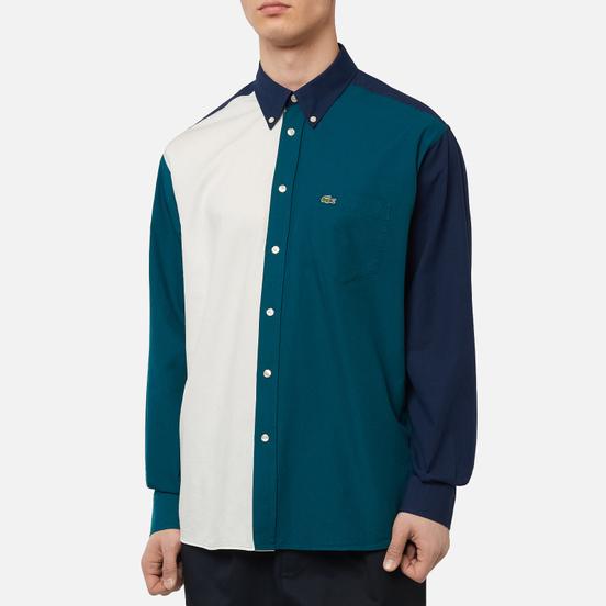 Мужская рубашка Lacoste Colourblock Cotton Navy Blue/Green/White