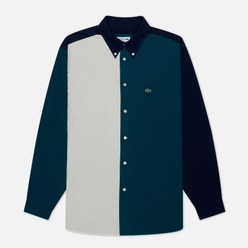 Мужская рубашка Lacoste Colourblock Cotton Navy Blue/Green/White