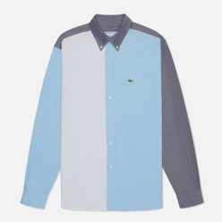 Мужская рубашка Lacoste Colourblock Cotton Navy Blue/Light Blue/White