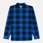 Мужская рубашка Lacoste Live Boxy Fit Check Flannel Blue/White фото - 0