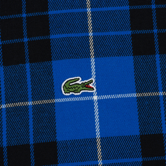 Мужская рубашка Lacoste Live Boxy Fit Check Flannel Blue/White