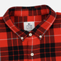 Мужская рубашка Lacoste Live Boxy Fit Check Flannel Red/White фото - 1