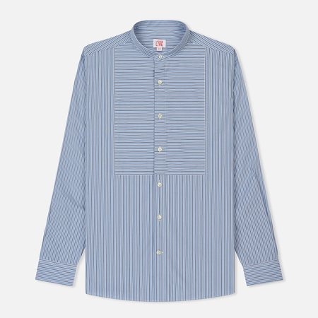 Мужская рубашка Lacoste Live Boxy Fit Striped Poplin Caviar/Flour/Navy Blue