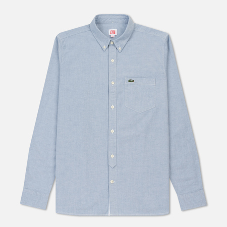 Мужская рубашка Lacoste Live Classic BD Oxford Admiral/White