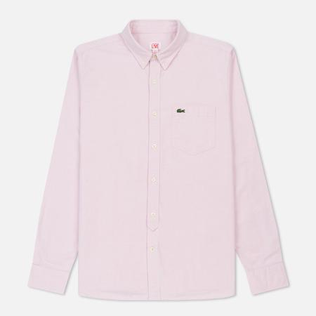 Мужская рубашка Lacoste Live Classic BD Oxford Orchidea/White