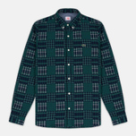 Мужская рубашка Lacoste Live Multi-Pattern Flannel Slim Fit Green/Navy фото- 0