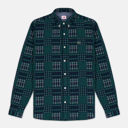 Lacoste Live Multi-Pattern Flannel Slim Fit Men's shirt Green/Navy