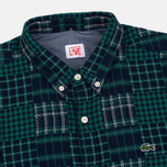 Мужская рубашка Lacoste Live Multi-Pattern Flannel Slim Fit Green/Navy фото- 1