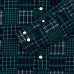 Мужская рубашка Lacoste Live Multi-Pattern Flannel Slim Fit Green/Navy фото- 2
