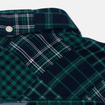 Мужская рубашка Lacoste Live Multi-Pattern Flannel Slim Fit Green/Navy фото- 4