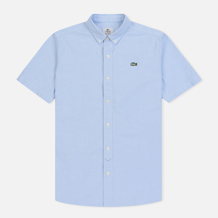 Мужская рубашка Lacoste Live Oxford Cotton Slim Fit Light Blue/White