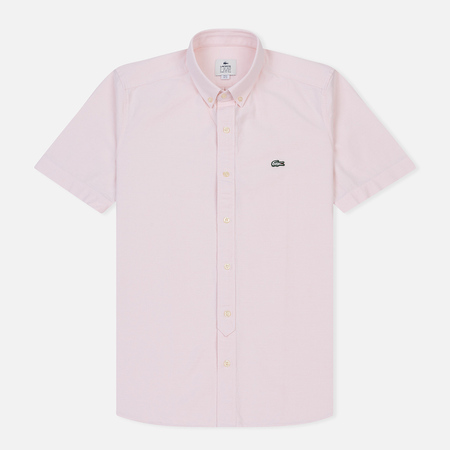 Мужская рубашка Lacoste Live Oxford Cotton Slim Fit Light Pink/White