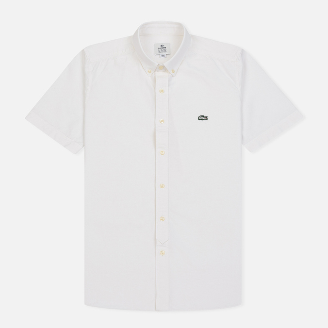 Мужская рубашка Lacoste Live Oxford Cotton Slim Fit White/White