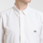 Мужская рубашка Lacoste Live Oxford Cotton Slim Fit White/White фото- 3