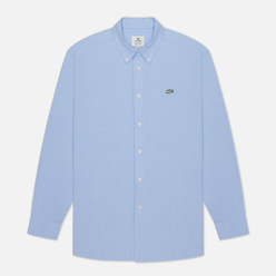 Мужская рубашка Lacoste Live Relaxed Fit Cotton Light Blue/White