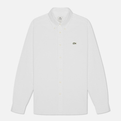 Мужская рубашка Lacoste Live Relaxed Fit Cotton White