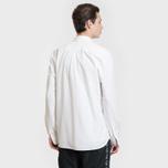 Мужская рубашка Lacoste Live Skinny Fit Oxford Cotton White/White фото- 3