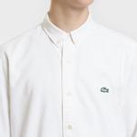 Мужская рубашка Lacoste Live Skinny Fit Oxford Cotton White/White фото- 2