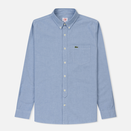 Мужская рубашка Lacoste Live Slim Fit Oxford Cotton Admiral Blue/White