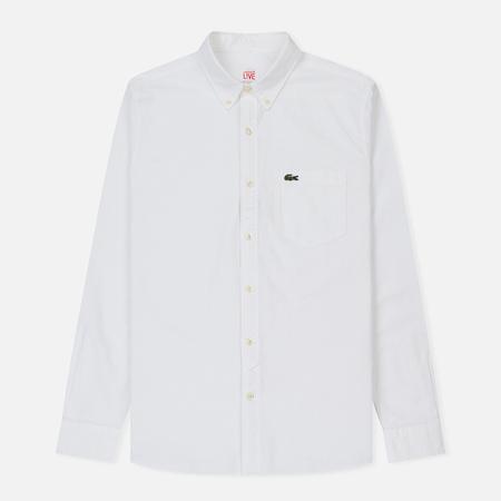 Мужская рубашка Lacoste Live Slim Fit Oxford Cotton White/White
