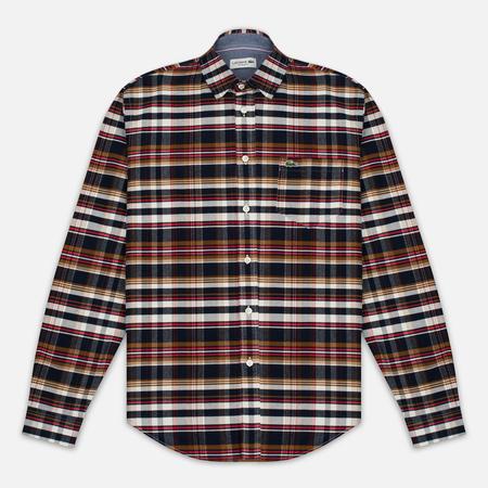 Lacoste Oxford Check Woven Men's Shirt Cosmos/Red