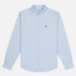 Мужская рубашка Lacoste Oxford Regular Fit Woven Atmosphere/White фото- 0