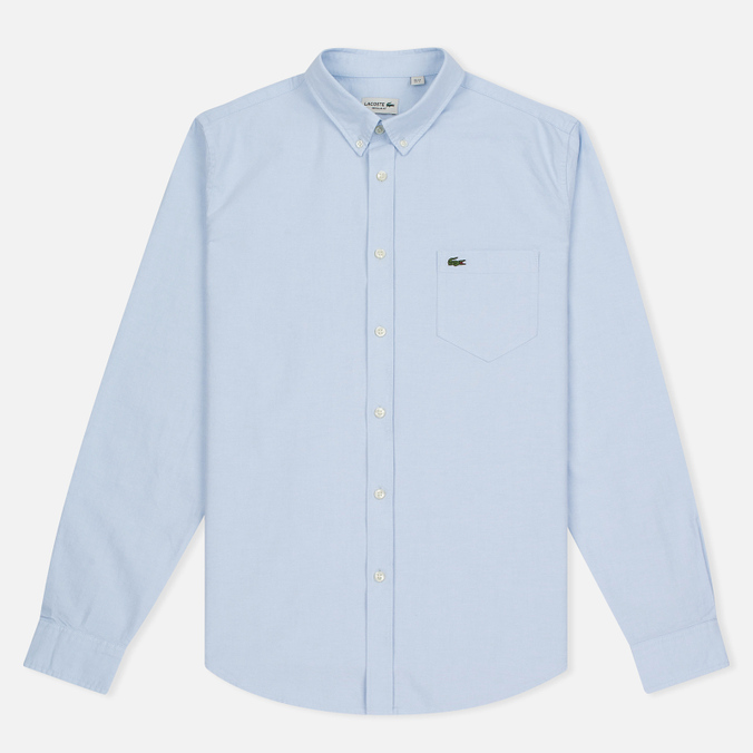 Мужская рубашка Lacoste Oxford Regular Fit Woven Atmosphere/White