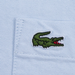 Мужская рубашка Lacoste Oxford Regular Fit Woven Atmosphere/White фото- 5
