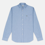 Мужская рубашка Lacoste Oxford Regular Fit Woven Blue фото- 0