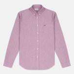 Lacoste Oxford Regular Fit Woven Men's Shirt Wine/White photo- 0