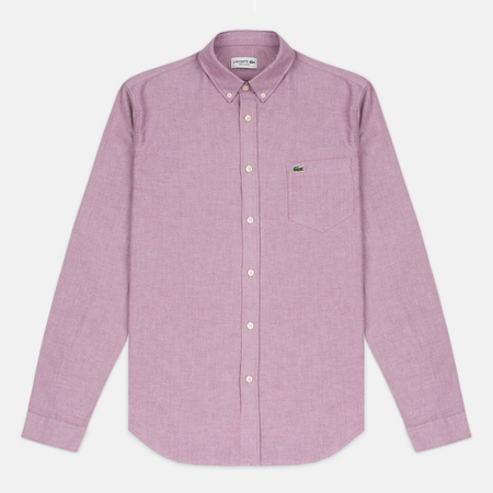 Lacoste Oxford Regular Fit Woven Men's Shirt Wine/White