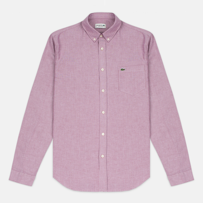 Мужская рубашка Lacoste Oxford Regular Fit Woven Wine/White