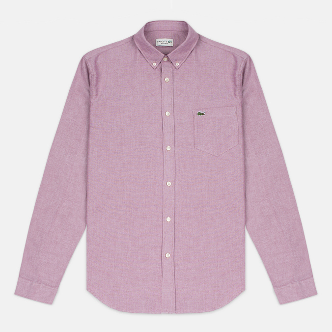 Lacoste Oxford Regular Fit Woven Men's Shirt Wine/White