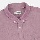 Lacoste Oxford Regular Fit Woven Men's Shirt Wine/White photo- 1