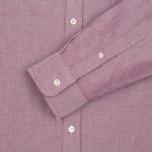 Lacoste Oxford Regular Fit Woven Men's Shirt Wine/White photo- 2