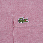 Мужская рубашка Lacoste Oxford Regular Fit Woven Wine/White фото- 5