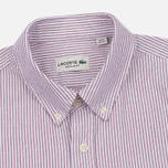 Мужская рубашка Lacoste Oxford Striped Regular Fit Wine/White фото- 1
