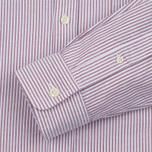 Мужская рубашка Lacoste Oxford Striped Regular Fit Wine/White фото- 2