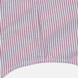 Мужская рубашка Lacoste Oxford Striped Regular Fit Wine/White фото- 5