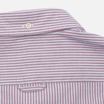 Мужская рубашка Lacoste Oxford Striped Regular Fit Wine/White фото- 4