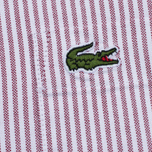 Мужская рубашка Lacoste Oxford Striped Regular Fit Wine/White фото- 3