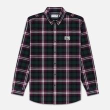 Мужская рубашка Lacoste Regular Fit Check Flannel Bordeaux/White фото- 0