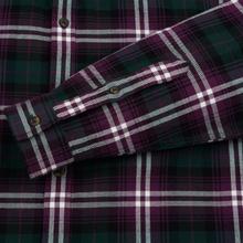 Мужская рубашка Lacoste Regular Fit Check Flannel Bordeaux/White фото- 3