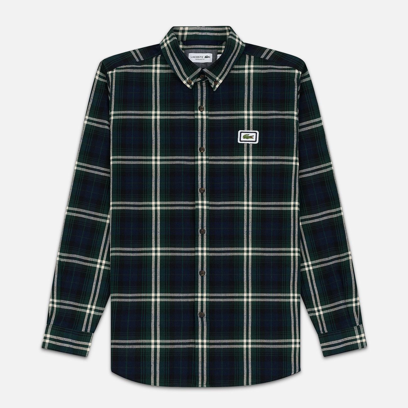 Мужская рубашка Lacoste Regular Fit Check Flannel Green/Beige