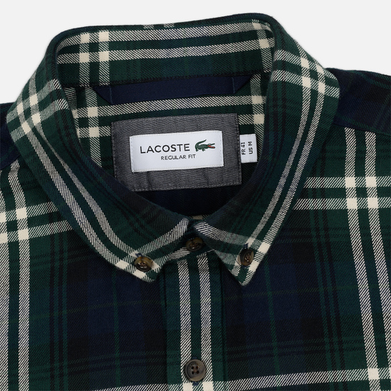 Мужская рубашка Lacoste Regular Fit Check Flannel Green/Beige