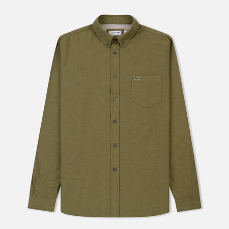 Мужская рубашка Lacoste Regular Fit Cotton Oxford Green