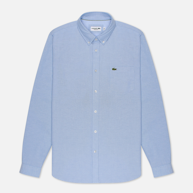Мужская рубашка Lacoste Regular Fit Cotton Oxford Hemisphere Blue