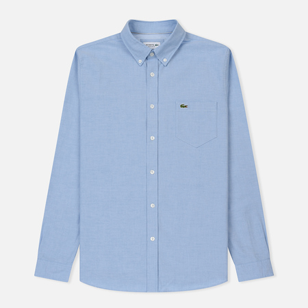 Мужская рубашка Lacoste Regular Fit Cotton Oxford Hemisphere Blue 73b0207ae36