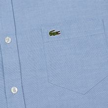 Мужская рубашка Lacoste Regular Fit Cotton Oxford Hemisphere Blue фото- 2